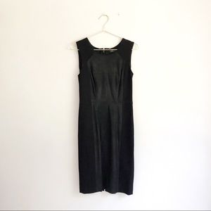 BCBG Black Block Panel Shift Sheath Dress